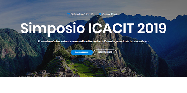 Simposio ICACIT 2019: Call for Paper e Inscripciones